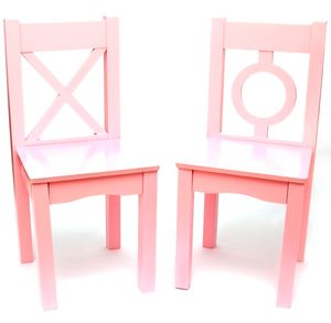 Lipper International Child's Chairs, Set of 2 - Pink