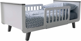 Little Partners MOD Toddler Bed - White & Earl Grey