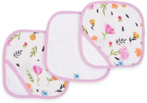 Little Unicorn 3 Pack Cotton Washcloth Set - Berry & Bloom