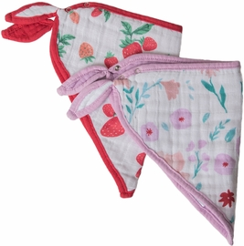 Little Unicorn Cotton Bandana Bib 2-Pack - Morning Glory