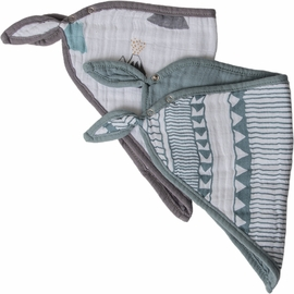 Little Unicorn Cotton Bandana Bib 2-Pack - Santa Fe