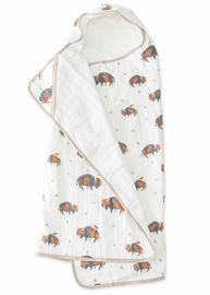 Little Unicorn Cotton Big Kid Hooded Towel - Bison
