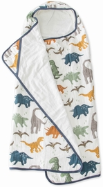 Little Unicorn Cotton Big Kid Hooded Towel - Dino Friends