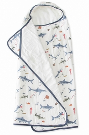 Little Unicorn Cotton Big Kid Hooded Towel - Shark