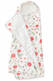 Little Unicorn Cotton Big Kid Hooded Towel - Summer Poppy