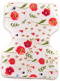 Little Unicorn Cotton Burp Cloth - Summer Poppy