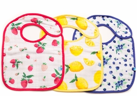 Little Unicorn Cotton Classic Bib 3-Pack - Berry Lemonade