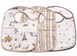 Little Unicorn Cotton Classic Bib 3-Pack - Forest Friends