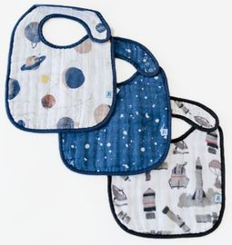Little Unicorn Cotton Classic Bib 3-Pack - Planetary