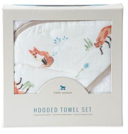 Little Unicorn Cotton Hooded Towel & Washcloth - Fox