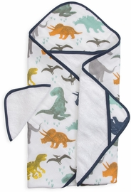 Little Unicorn Cotton Hooded Towel & Washcloth - Dino Friends