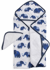 Little Unicorn Cotton Hooded Towel & Washcloth - Indie Elephant