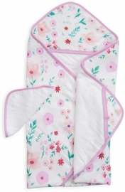 Little Unicorn Cotton Hooded Towel & Washcloth - Morning Glory