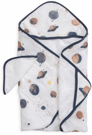 Little Unicorn Cotton Hooded Towel & Washcloth - Planetary