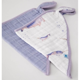 Little Unicorn Cotton Muslin Bandana Bib 2 pack - Narwhal