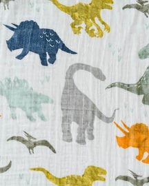 Little Unicorn Cotton Muslin Big Kid Quilt - Dino Friends