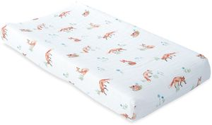 Little Unicorn Cotton Muslin Changing Pad Cover - Fox