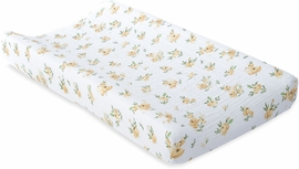 Little Unicorn Cotton Muslin Changing Pad Cover - Yellow Rose