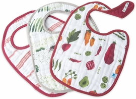 Little Unicorn Cotton Classic Bib 3-Pack - Farmers Market