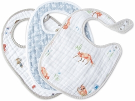 Little Unicorn Cotton Classic Bib 3-Pack - Fox