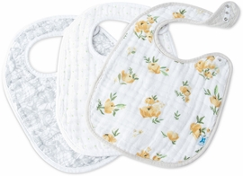 Little Unicorn Cotton Classic Bib 3-Pack - Yellow Rose