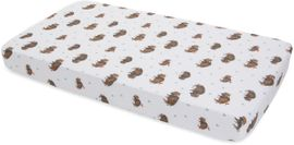 Little Unicorn Cotton Muslin Fitted Crib Sheet - Bison
