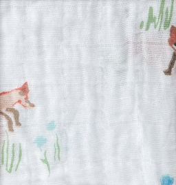 Little Unicorn Cotton Muslin Fitted Crib Sheet - Fox