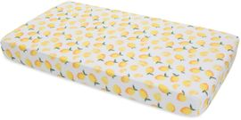 Little Unicorn Cotton Muslin Fitted Crib Sheet - Lemon