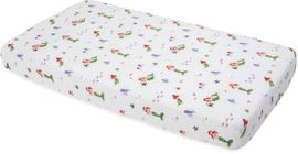 Little Unicorn Cotton Muslin Fitted Crib Sheet - Mermaid