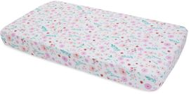 Little Unicorn Cotton Muslin Fitted Crib Sheet - Morning Glory