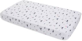 Little Unicorn Cotton Muslin Fitted Crib Sheet - Nautical Harbor