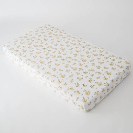 Little Unicorn Cotton Muslin Fitted Crib Sheet - Yellow Rose