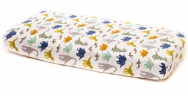 Little Unicorn Cotton Muslin Fitted Sheet - Dino Friends