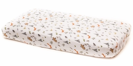 Little Unicorn Cotton Muslin Fitted Sheet - Forest Friends