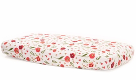 Little Unicorn Cotton Muslin Fitted Sheet - Summer Poppy
