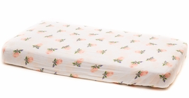 Little Unicorn Cotton Muslin Fitted Sheet - Watercolor Rose