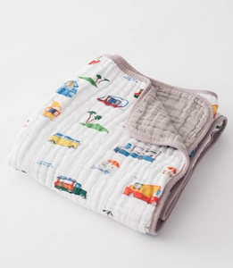 Little Unicorn Cotton Muslin Quilt - Food Truck