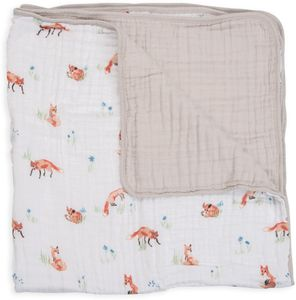 Little Unicorn Cotton Muslin Quilt - Fox