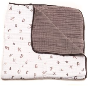 Little Unicorn Cotton Muslin Quilt - Hello Alphabet