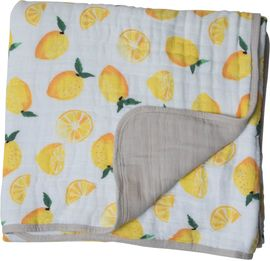 Little Unicorn Cotton Muslin Quilt - Lemon