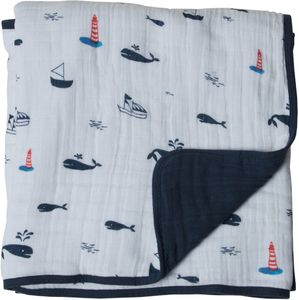 Little Unicorn Cotton Muslin Quilt - Nautical Harbor