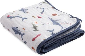 Little Unicorn Cotton Muslin Quilt - Shark