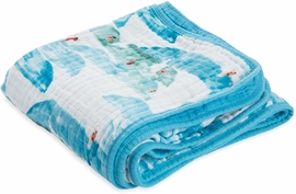 Little Unicorn Cotton Muslin Quilt - Surf