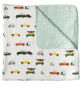 Little Unicorn Cotton Muslin Quilt - Traffic Jam