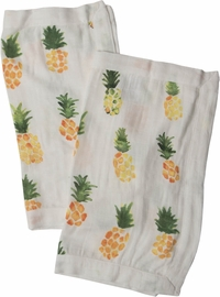 Little Unicorn Cotton Muslin Security Blanket, 2-Pack - Pineapple