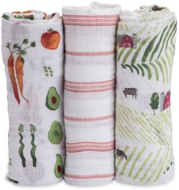 Little Unicorn Cotton Muslin Swaddle 3 Pack - Farmers Market