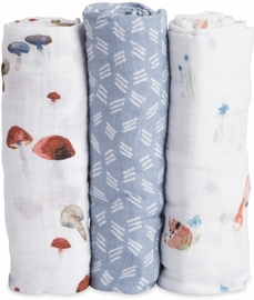 Little Unicorn Cotton Muslin Swaddle 3-Pack - Fox