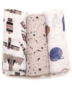 Little Unicorn Cotton Muslin Swaddle 3-Pack - Ground Control
