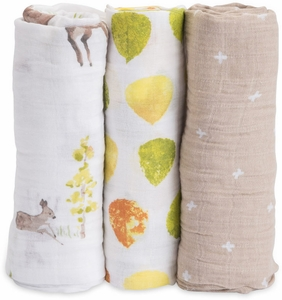 Little Unicorn Cotton Muslin Swaddle 3 Pack - Oh Deer