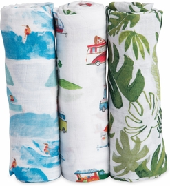 Little Unicorn Cotton Muslin Swaddle 3-Pack - Summer Vibe